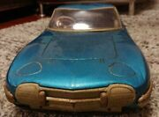 Nomura Toy Toyota 2000gt Collectible Tin Tinplate Car Vehicle Blue Very Big Used