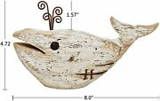 Wooden Whale Decor Tabletop Wood Whale Decorations For Rustic Nautical Theme