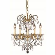 Crystal Chandelier French Gold For Foyer Dining Living Room Kitchen 5 Light 19