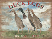 Duck Eggs Metal Sign Free Shipping Country Home Decor