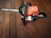 Stihl Ms 180c Chainsaw With 16 Bar And Chain Runs Great   Ms180c