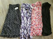 New Lot 4 Womens Plus Size Skirts Pleated Skirt Womens 2x Womens 20 All Colors