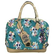 Dooney And Bourke Disney Flower And Garden 2016 Satchel With Matching Charms N.w.t