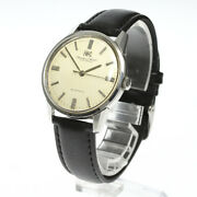 Schaffhausen Date Cal.854 Automatic 34mm Ss Menand039s Analog Watch Used Antique