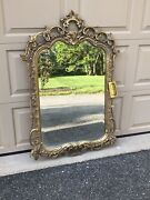 From The Former Estate Of Mike Tyson - Rist Corp Gold Leaf Friedman Mirror