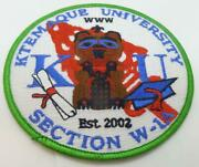 Bsa Patch Ktemaque University Section W-1a Oa Www Round Patch Green Border