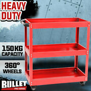 Thickened Baking Paint 3-layer Tool Cart Trolley Workbench Duty 4-wheels Usa