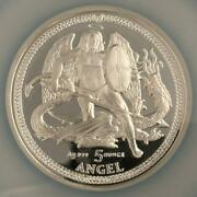 2013 /isle Of Man/angel/pf69uc Silver Coin/5oz/high Relief