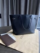Louis Vuitton 100 Authentic Neverfull Mm Collectible Epi Black Leather Pouch