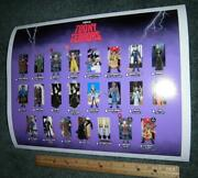 Toony Terrors Large Poster Checklist Archival Giclee Print Neca Figures Horror