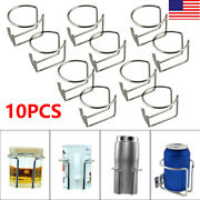 10pcs Stainless Steel Boat Ring Cup Drink Holder For Marine Yacht Truck Rv Car