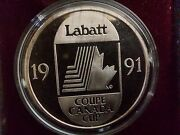 1991 Canada Cup Cccp Hammer And Sickle Limited Edition .999 One Troy Oz.