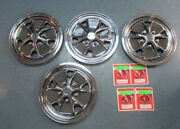 1965-66 Mustang New 14 Inch Styled Steel Wheel Covers W/. Center Caps - Drake