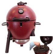Grill Charcoal Compact Portable Cast Iron Grates Insulated Design Steel Base New