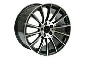 22 Staggered Black Machined Face Turbine Style Rims For Gls S63 Cls63 5x112
