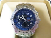 Breitling Chronomat Blue Impulse A13353 Automatic Ss 41mm Menand039s Watch With Box