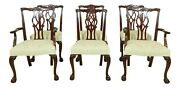 L32935ec Set Of 6 Kindel Ball And Claw Mahogany Chippendale Dining Chairs