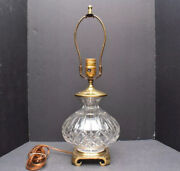 Waterford Crystal Lismore Table Lamp Round Onion Shape 20 Tall Signed