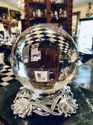 Antique Art Deco Nouveau Lotus Water Lily Crystal Ball Oracle Paranormal