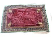 Old Heritage Textiles India Old Antique Gujarat Hanging Golden Copper Embroidery