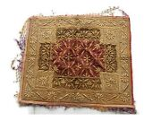 Vintage Velvet Antique Embroidery Work Handmade Wall Tapestry Collectible Throw