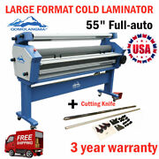 55in Full-auto Large Format Cold Laminator Machine With Trimmer / Heat Assisted