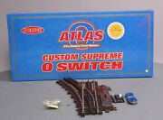 Atlas 6085 O O45 Nickel Silver Left Hand Remote Control Switch Turnout