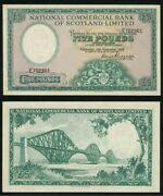 1959 Banknote National Commercial Bank Of Scotland Ltd Five Pounds Sterling P266