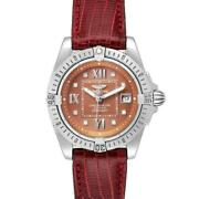 Breitling Windrider Cockpit Diamond Dial Ladies Watch A71356 Box Papers