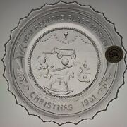 Vintage Christmas Toys Mantel Art Glass New Bedford Crystal Pairpoint Cup Plate