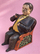 Antique Mechanical Cast Iron Bank 1873 Tammany Hall Boss Tweed By Je Stevens