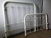 120 Year Old Antique Cast Iron Full Size Bed Frame.