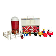 Fisher Price Little People Family Farm Playset 915 Vintage 1967 Barn W/ Animals