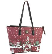 Disney Dooney And Bourke Holiday Tote Mickey And Minnie Christmas Purse Bag Nwt