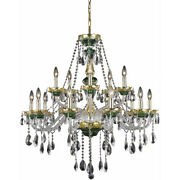Asfour Crystal Chandelier Green And Gold Dining Room Foyer Kitchen 15 Light 37