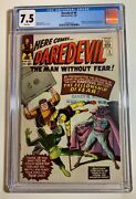Daredevil 6 Cgc 7.5 Wp Marvel 1965 Origin And First Appearance Of Mister Fear