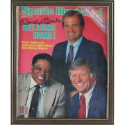 Mickey Mantle And Willie Mays Dual Signed Framed 1986 Sports Illustrated Magazine
