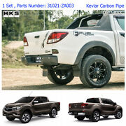 For Mazda Bt-50 Pro 12 13 - 16 17 Performance Stainless Exhaust Pipe Carbon Tip