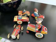 Lot3.tin Toys 2 Germany And 2. Japan 1920s Car 1 Ingap Italy Works Rare Video