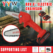 1080w Cordless Saw Woodworking Electric One-hand Chain Saw Wood Cutter 2 Battery