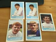 5 Leeds United A And Bc Yellow Backed Football Cards Bremner Sprake Gray Giles