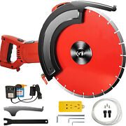 14 Concrete Cut Off Saw Wet Dry Masonry Concrete Saw W/ Water Pump And Blade