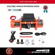 New Offroad Electric Winch Recovery Synthetic Rope 13000lbs 26m And Remote 4wd