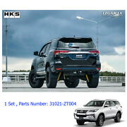 For Toyota Fortuner 15 2017 Performance Stainless Exhaust Pipe Twin Anodized Tip