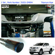 For Mitsubishi L200 Triton 15 2016 17 Stainless Exhaust Pipe Single Anodized Tip