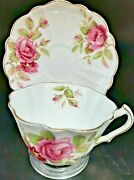 Victoria C And E Bone China Tea Cup And Saucer, Gold Accents