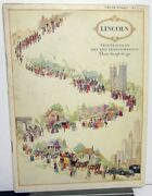 1926 1927 Lincoln Salon Cars Travelogue Of Art And Transportation Sales Brochure