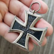 Antique Original Wwi Imperial German Iron Cross 1813 1914 W Military Medal 925