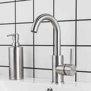 Bar Sink Faucet Brushed Nickel Gappo Bathroom Faucet Stainless Steel Farmhouse
