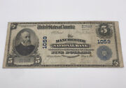 1905 5 National Currency New Hampshire Legal Tender Harrison 37583